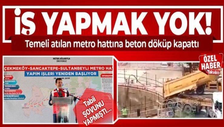 Ekrem İmamoğlu yönetimindeki İBB yapımına başlanan Sancaktepe Yenidoğan metro hattını durdurma kararı aldı!