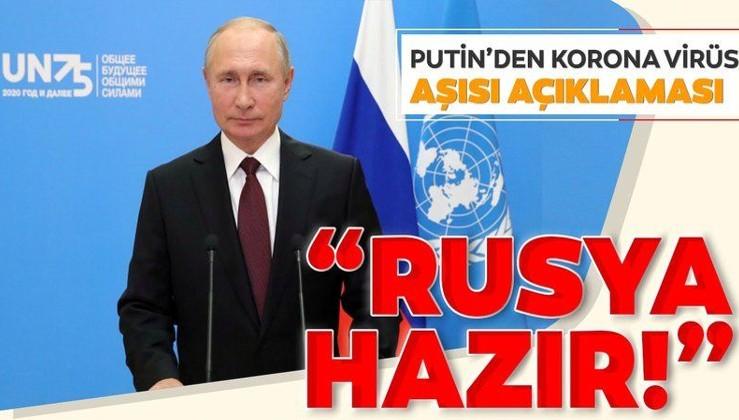 Putin'den 'aşı' açıklaması