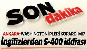 Son dakika: İngiliz Reuters, ABD'nin Türkiye'ye S-400 yaptırımı hazırlığında