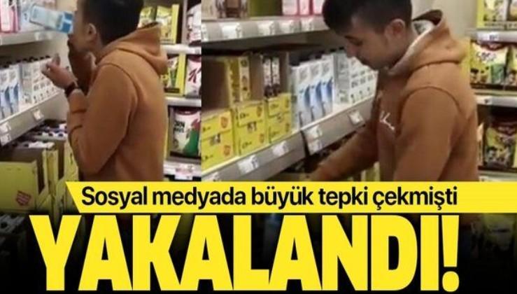Sosyal medyada büyük tepki çekmişti! Markette süt içen kişi Adıyaman'da yakalandı.