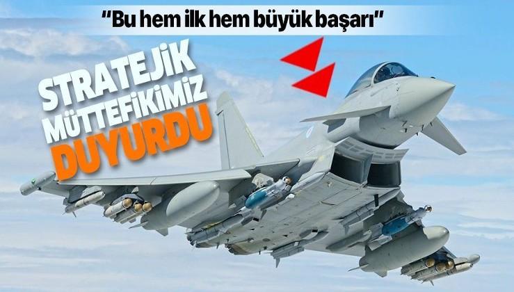 Dost ülke Katar, İngiltere'de Typhoon savaş jetleriyle ortak uçuşa başladı