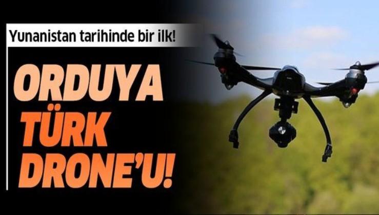 Yunanistan ordusu tarihinde bir ilk! Türk özel sektörü tarafından üretilen drone'ları kullanacaklar