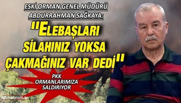 Eski Orman Genel Müdürü Abdurrahman Sağkaya: ''Elebaşları silahınız yoksa çakmağınız var dedi''
