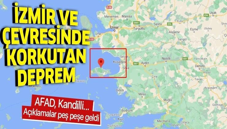 Son dakika: 4 Aralık İzmir ve çevresinde deprem | Kandilli son depremler