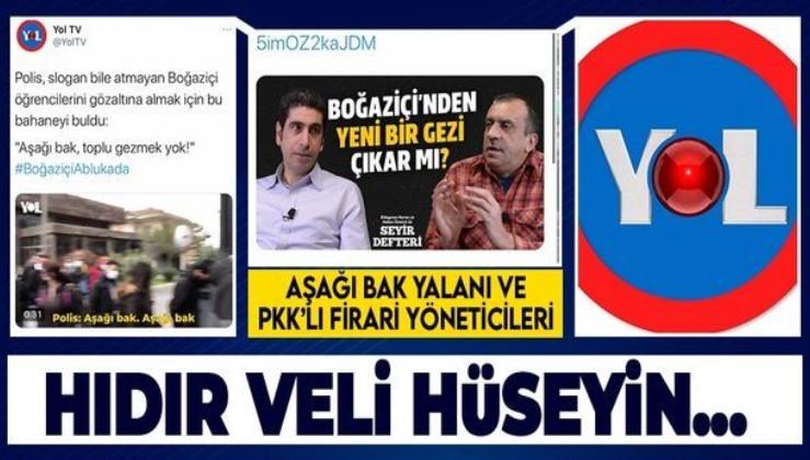 """Boğaziçi Üniversitesi'nde başlayan eylemleri """"Aşağı bak"""" yalanıyla tahrik eden Yol TV'nin PKK'lı iki ortağı Almanya'da!"""