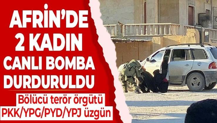 Afrin'de bölücü terör örgütü PKK/YPG/PYD/YPJ üyesi iki kadın canlı bomba, saldırı hazırlığındayken yakalandı!