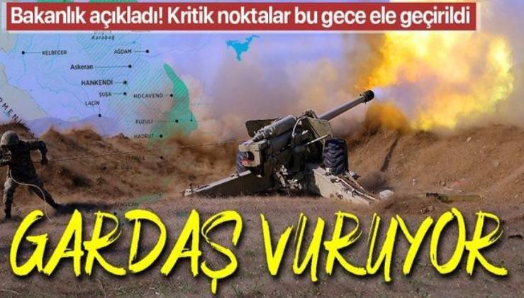 SON DAKİKA: Azerbaycan ordusu, bu gece kritik arazi ve yükseklikleri işgalden kurtardı