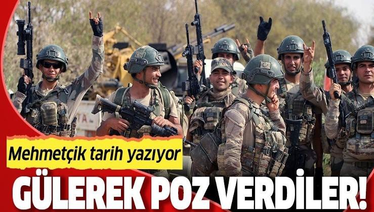 Barış Pınarı Harekâtı'na katılan Mehmetçik'in morali yerinde!