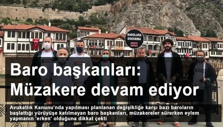 80 Baro başkanından 30'unun başlattığı yürüyüşe katılmayan baro başkanları: Müzakere süreci devam ediyor