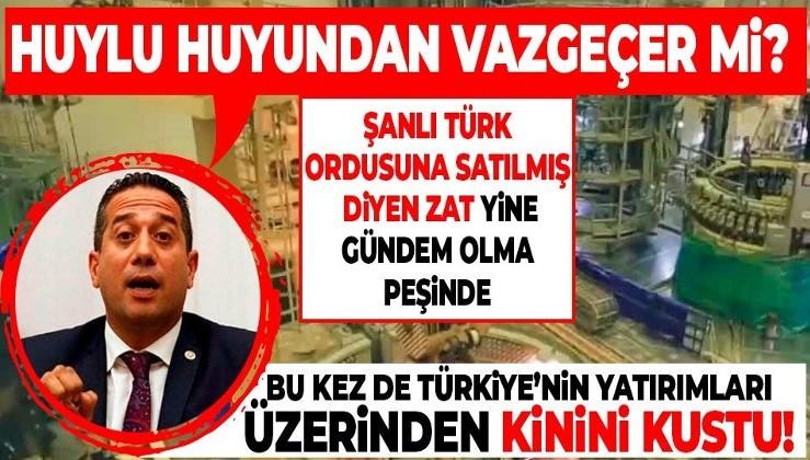 Şanlı Türk ordusuna 'satılmış' diyen CHP'li Ali Mahir Başarır bu kez de yatırımları hedef aldı!