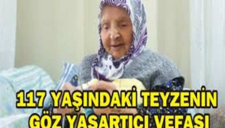 """Milli Savunma Bakanlığı """"Zeliha Ninemizi Evinde Ziyaret Ederek Çoraplar için Teşekkür Ettik"""""""