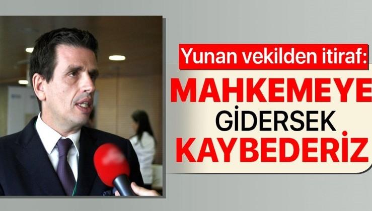 Yunan Milletvekili Dimitris Keridis'ten itiraf gibi açıklama: Mahkemeye gidersek Meis'i kaybederiz