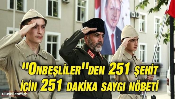 Tokat'ta 251 şehit için 251 dakika saygı nöbeti