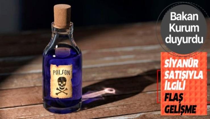 Bakan Kurum duyurdu: Siyanür bileşiklerini içeren maddelerin satışına yasak geliyor.