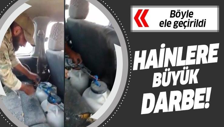 YPG/PKK'lıların bomba tuzakladığı araç ele geçirildi.
