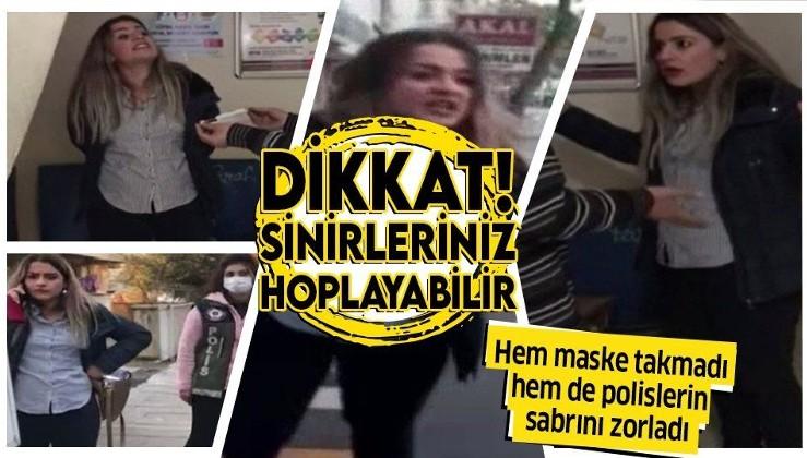"""Kahramanmaraş'ta maske takmadığı için ceza kesilmek istenen kadın polislerin sabrını zorladı karakolda yaptıklarıyla """"pes"""" dedirtti"""