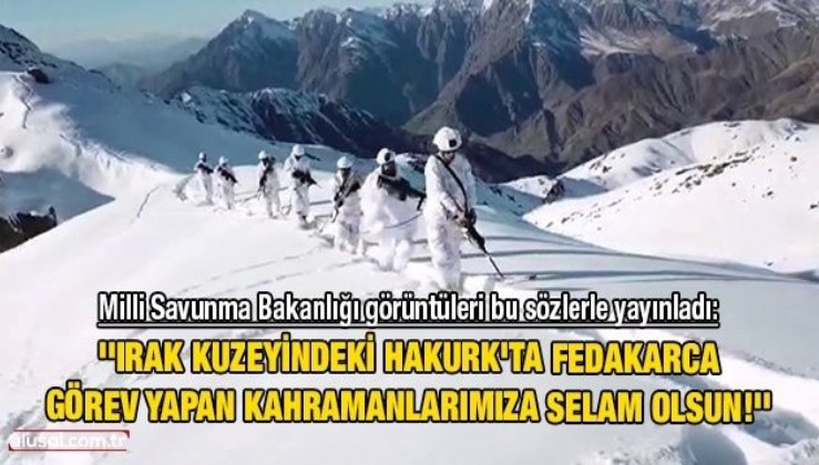 Terörle mücadele kararlılıkla sürüyor: MSB kahraman Mehmetçiğin görüntülerini paylaştı
