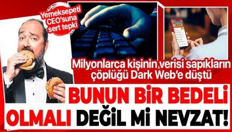 Kullanıcılarının kişisel verilerini çaldıran Yemeksepeti'nin CEO'su Nevzat Aydın'a sert eleştiri: Bir bedeli olmalı değil mi?