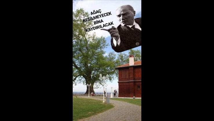 Mustafa Kemal Atatürk Yalova'da Millet Çiftliği'nde Yürüyen Köşk'ün inşaatında. (24.07.1930)
