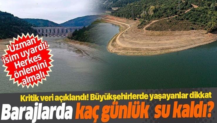 SON DAKİKA: İstanbul'un barajlarında ne kadar su kaldı? Baraj doluluk oranları açıklandı!