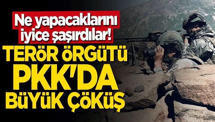 Ne yapacaklarını şaşırdılar! Terör örgütü PKK'da büyük çöküş