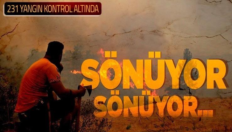 Yangın bölgelerinden son dakika haberi: 238 yangının 231'i kontrol altına alındı