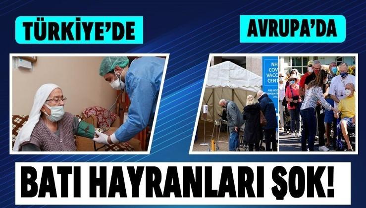 Avrupa'da yaşlılar aşı merkezlerinde kuyruk oluştururken Türkiye'de 90 yaş ve üzeri vatandaşlar için evde aşılama başladı