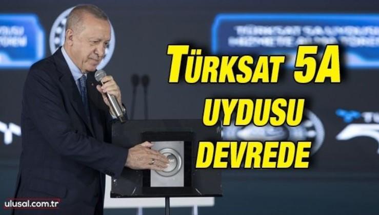İstikbal göklerdedir. Türksat 5A düzenlenen törenle hizmete girdi