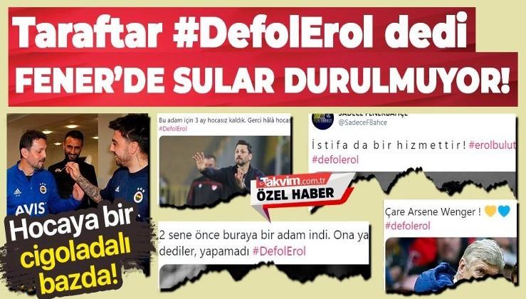 """Sahasında önce Galatasaray'a sonra Başakşehir'e yenilen Fenerbahçe'de sular durulmuyor: """"Çare Arsen Wenger defol Erol"""""""