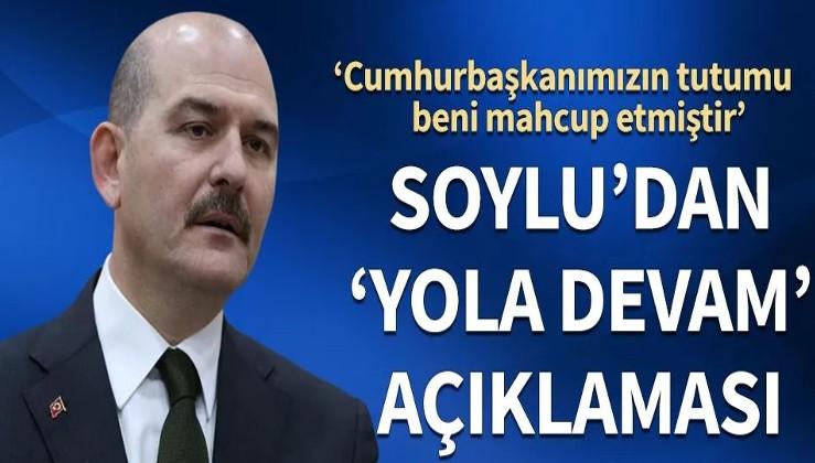 Süleyman Soylu'dan ilk açıklama: Cumhurbaşkanımızın tutumu beni mahcup etmiştir
