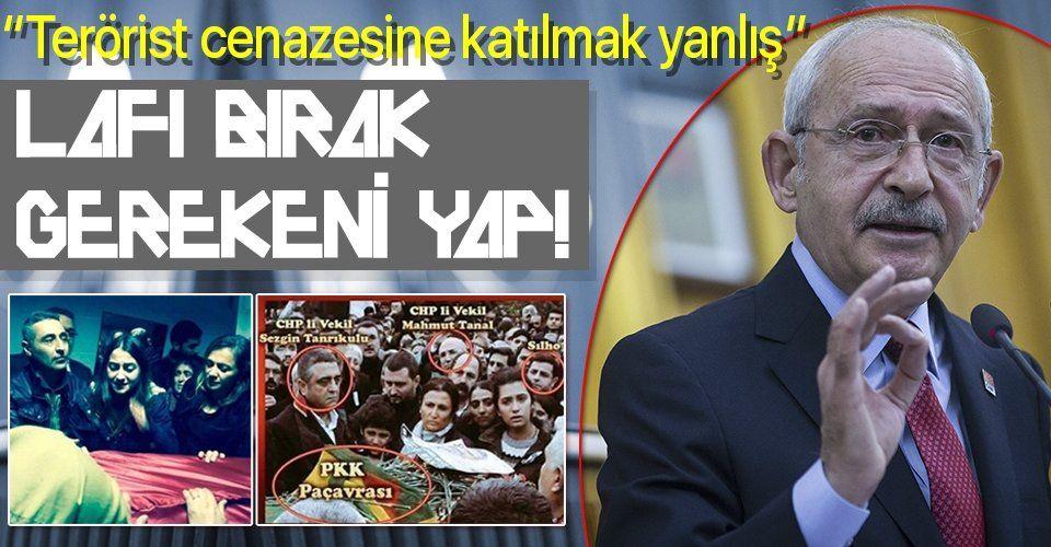 """""""Terörist cenazelerine katılmayı doğru bulmuyorum"""" diyen Kılıçdaroğlu ekibindeki terörist severler için gerekeni yapacak mı?"""