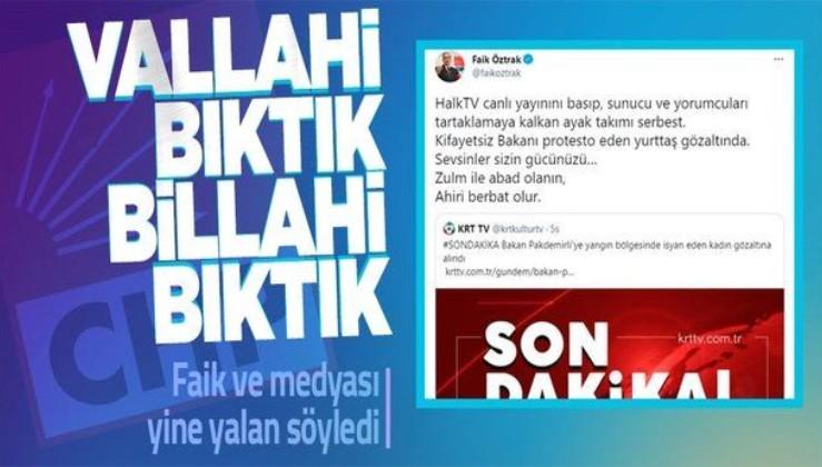 CHP Sözcüsü Faik Öztrak'a tepki: Vallahi bıktık, billahi bıktık bu yalanlarınızdan