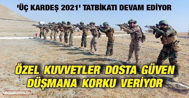 'Üç Kardeş 2021' tatbikatı devam ediyor