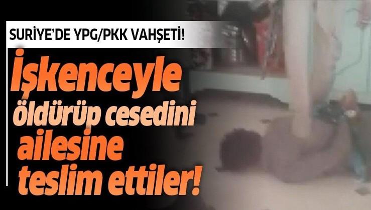 YPG/PKK'lı teröristler 20 yaşındaki genci işkenceyle öldürdüler! Cesedini ailesine teslim ettiler