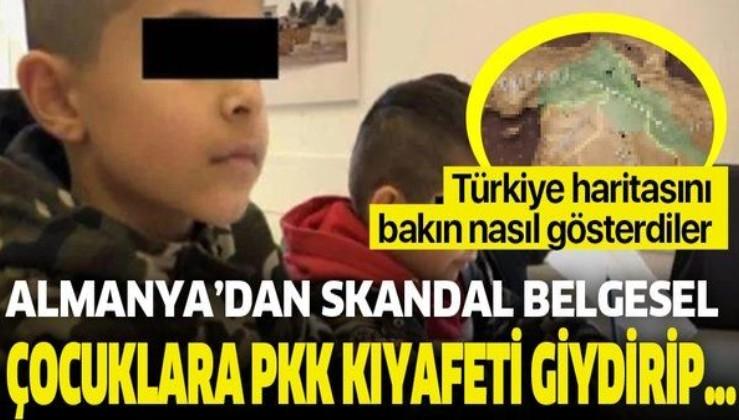 Almanya'dan skandal belgesel! Hem topraklarımızı Kürt bölgesi gösterdiler hem de İlkokul çağındaki çocuklara PKK kıyafeti giydirip...