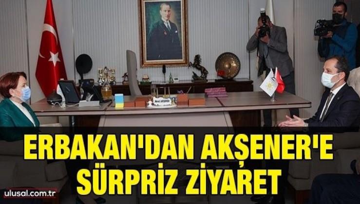 Fatih Erbakan'dan Meral Akşener'e sürpriz ziyaret