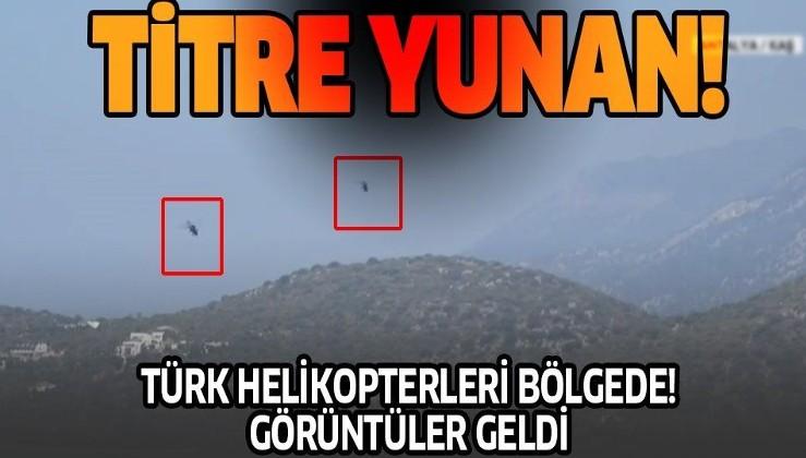 Son dakika: Akdeniz'den sıcak görüntüler! ATAK helikopterleri Meis Adası karşısında uçuş