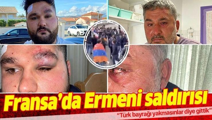 Fransa'da Ermenilerin saldırdığı Türk genç: Türk bayrağı yakmasınlar diye gittik