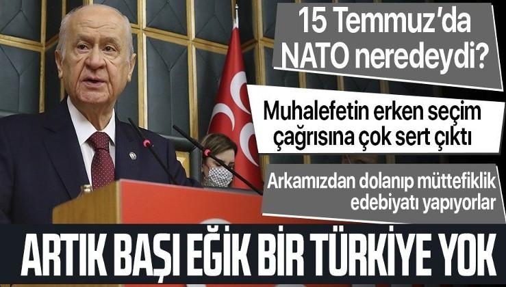 MHP lideri Devlet Bahçeli: Başı eğik bir Türkiye artık yoktur