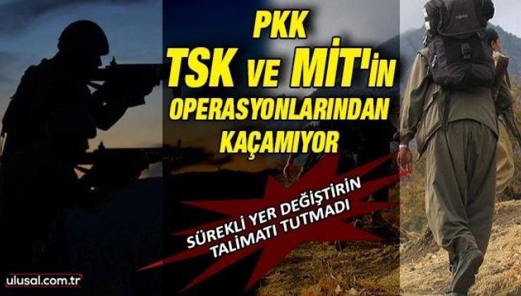PKK TSK ve MİT'in operasyonlarından kaçamıyor