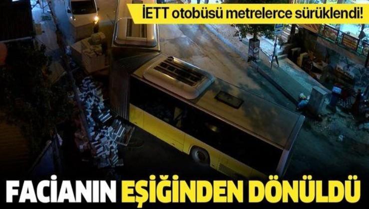 Son dakika: İstanbul Sultangazi'de İETT otobüsü ortadan ayrıldı: Facianın eşiğinden dönüldü