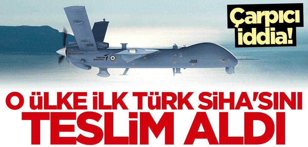 İlk Türk SİHA'sını teslim aldığı iddia edildi