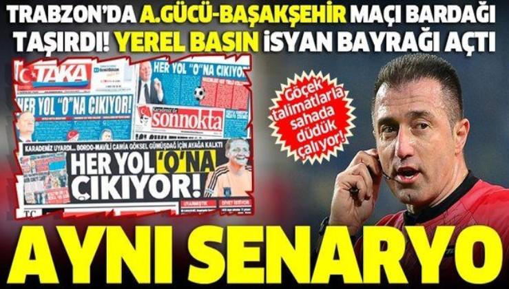 Trabzonspor'da Ankaragücü-Başakşehir maçı bardağı taşırdı! Yerel basın isyan bayrağı açtı