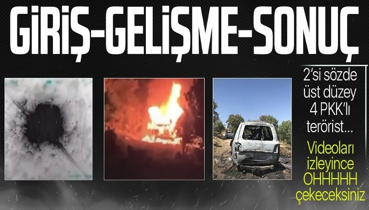 SON DAKİKA: MİT-TSK ortak operasyon düzenledi! Kuzey Irak Duhok'ta 2'si sözde üst düzey 4 PKK'lı terörist öldürüldü