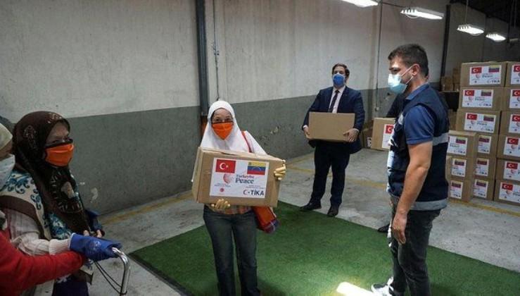 Son dakika: Türkiye, Venezuelalı ailelere ramazanda 6 ton gıda yardımı yaptı