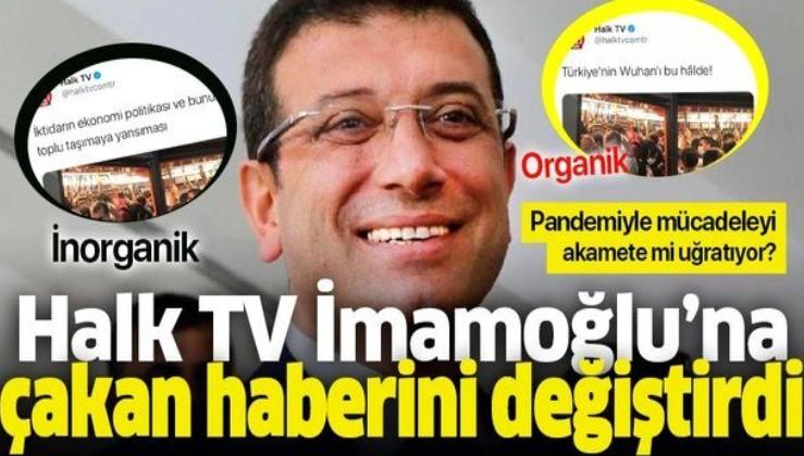 Halk TV Ekrem İmamoğlu'na çaktığı haberi değiştirdi!