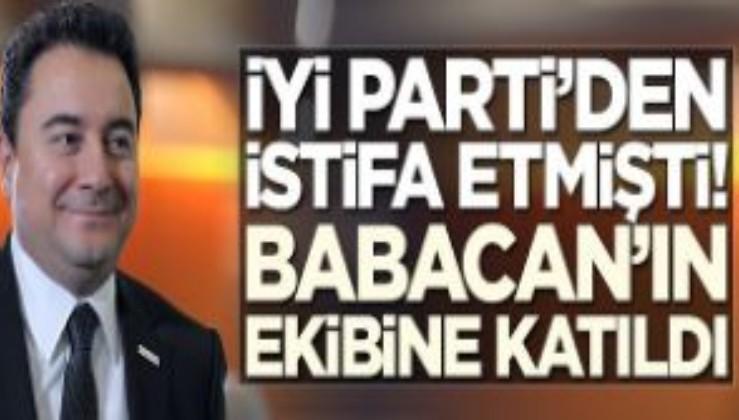 İYİ Parti'den istifa etmişti! Ali Babacan'ın ekibine katıldı
