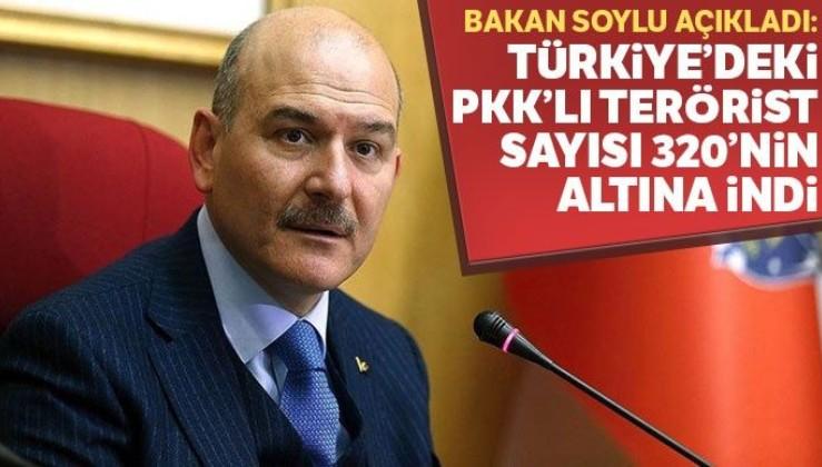 SON DAKİKA: Türkiye'deki PKK'lı terörist sayısı 320'nin altında