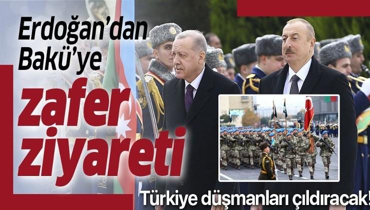 """Erdoğan'dan Bakü'ye zafer ziyareti! İki lider dünyaya """"tek millet iki devlet"""" mesajı verecek"""