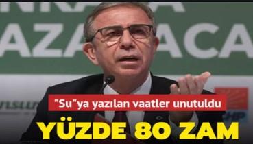 Ankara'da suya yüzde 80 zam yapıldı